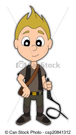 Clipart of Cartoon adventurer.