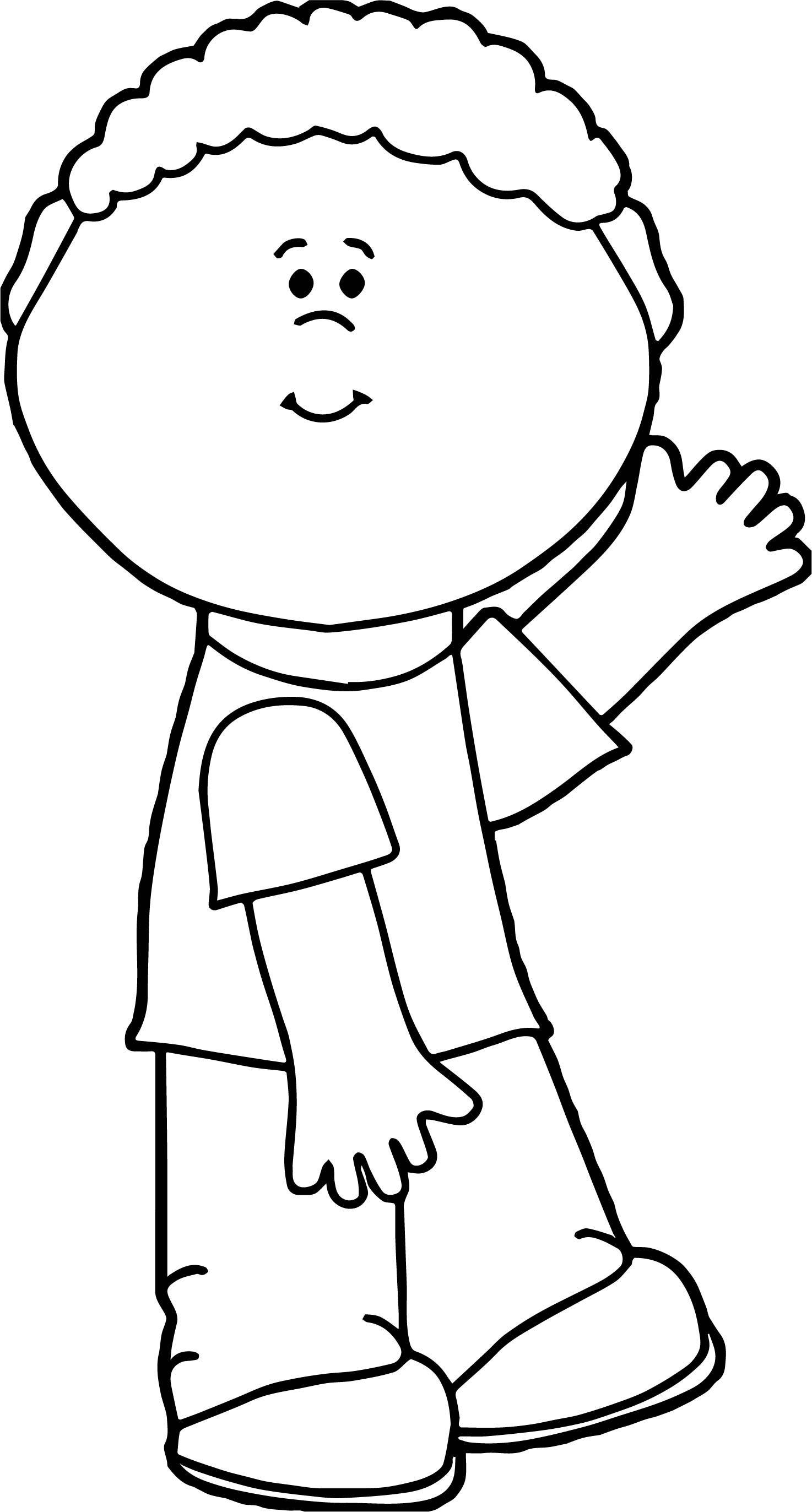 Boy Hi Coloring Page.