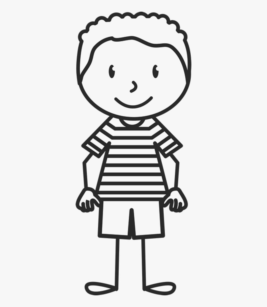 Boy Wearing Striped Shirt Stamp.