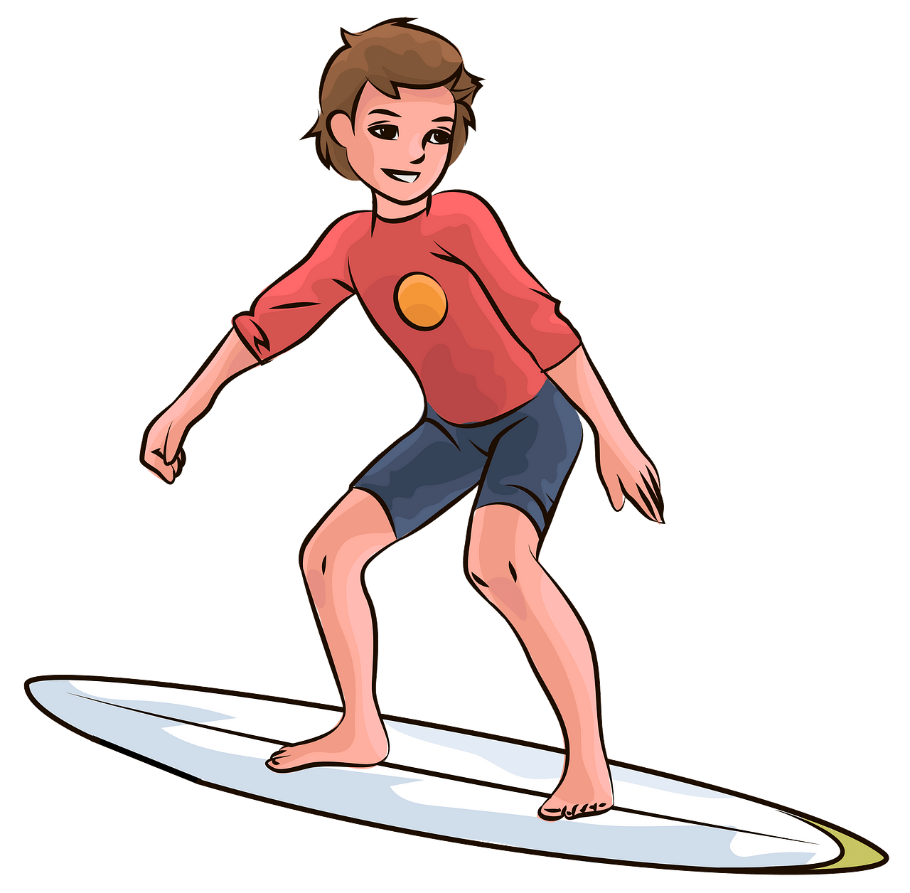 Surfer boy clipart. Free download..