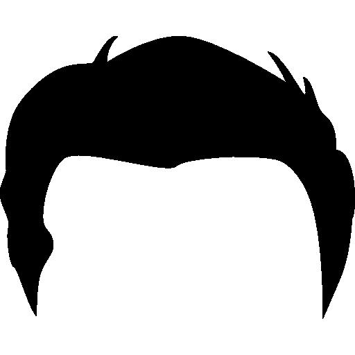 Black Hair Wig Boy Clipart.
