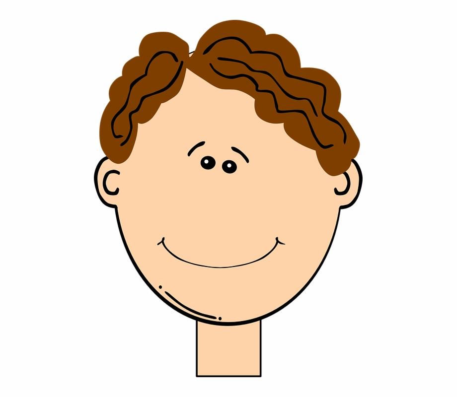 Boy Curly Hair Clipart.