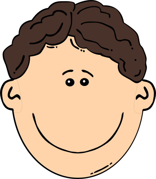 Boy With Brown Hair Clipart.