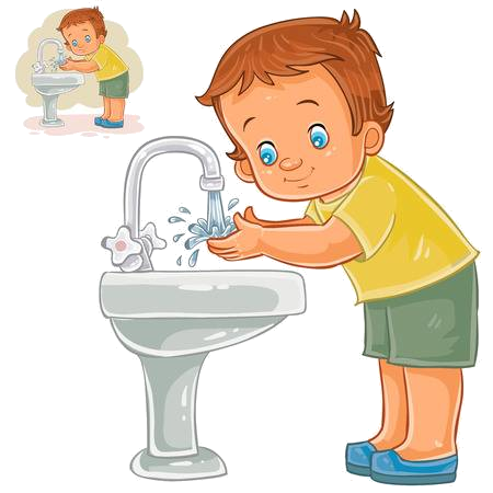 Washing Hands Wash Face Soap Boy Clipart Transparent Png.