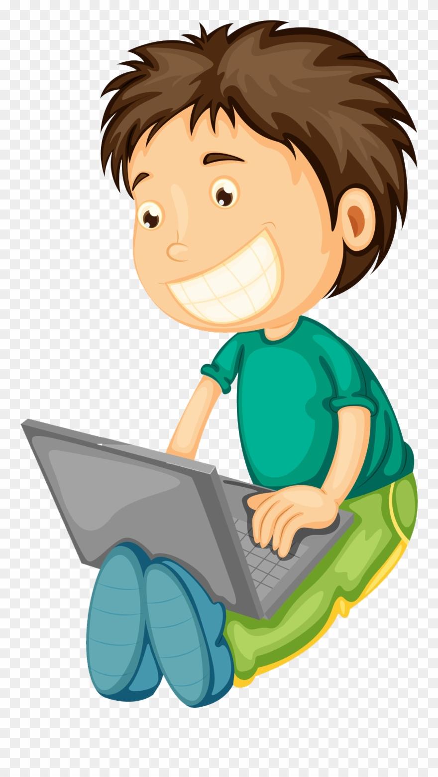 Computer Boy Clipart.