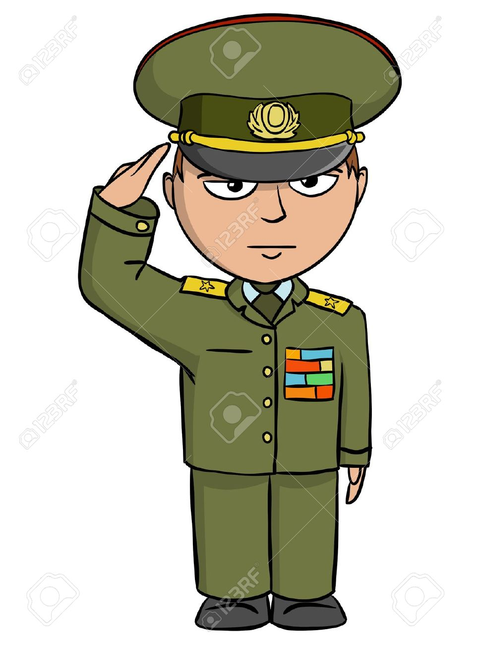 Boy In Army Uniform Clip Art Image Boy In clipart.