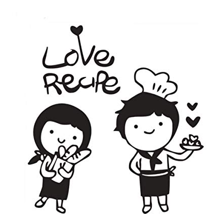 Amazon.com: Sweet Chef Boy Girl Vinyl Wall Sticker Love Cook.