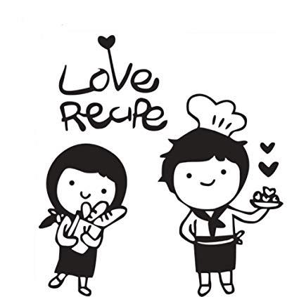 Amazon.com: Sweet Chef Boy Girl Vinyl Wall Sticker Love Cook.