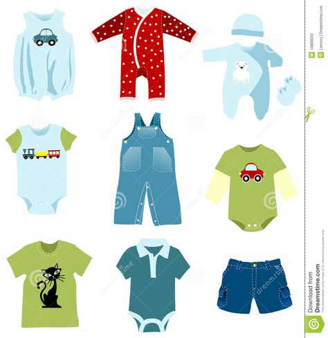 BABY BOY CLOTHES CLIPART.