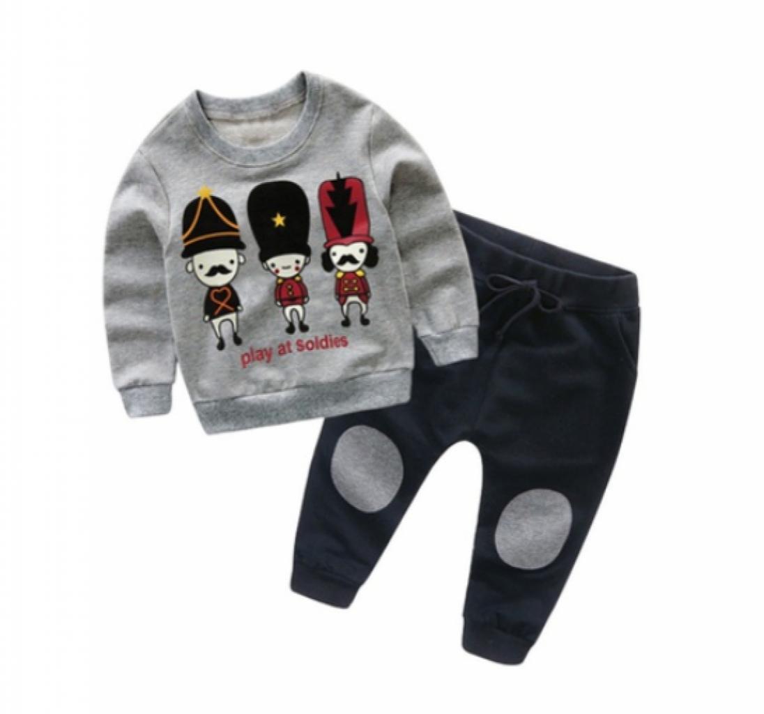 Toddler Boy Clothing Cartoon Bear Kids Clothes Baby Boys Clothing Set.