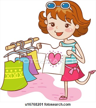 Clothes Shopping Clipart.