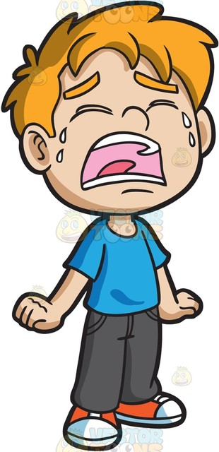 Clipart Boy Crying.