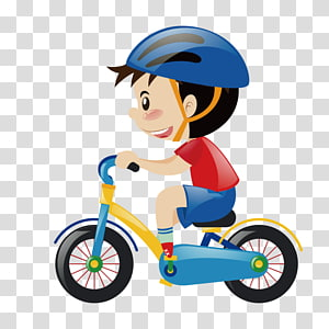 Cycling Boy transparent background PNG cliparts free.