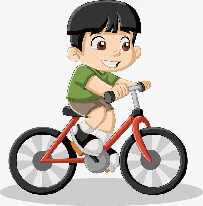 Little Boy Riding A Bike Vector, Boy Vector, Bike Vector.