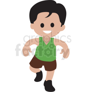 cartoon boy dancing clipart. Royalty.