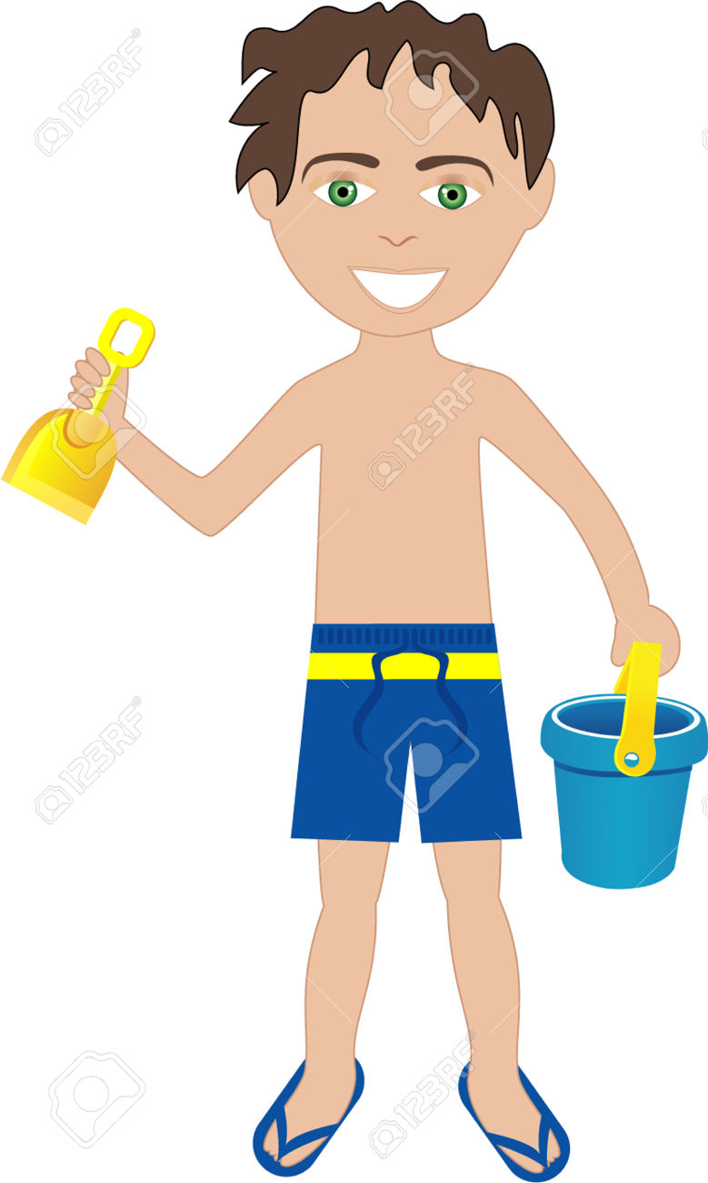 Free Clipart Boy With Shovel.