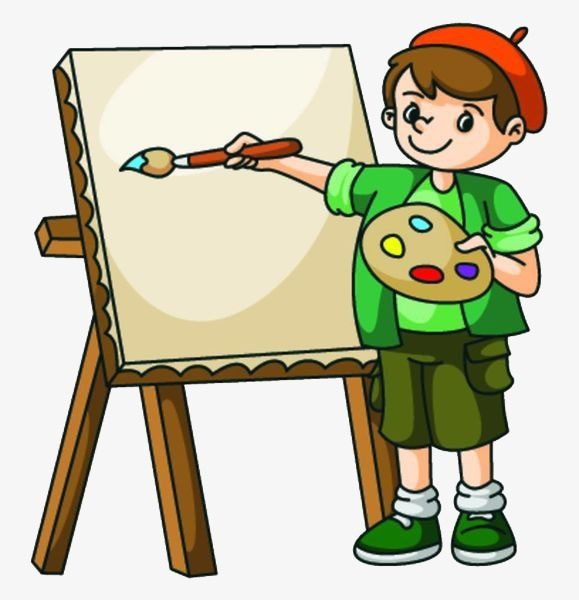A Boy Drawing On A Drawing Board, Boy Clipart, Painting, Draw Png.