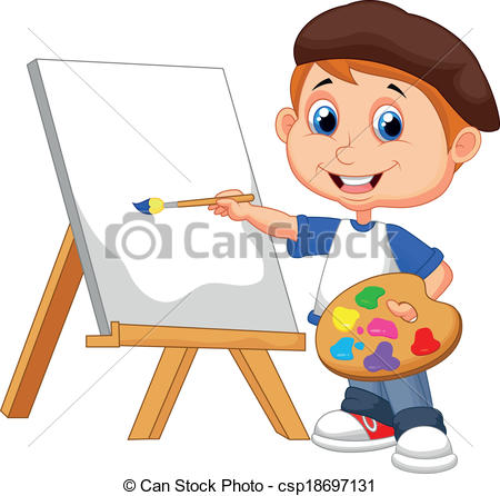 Boy drawing clipart 3 » Clipart Station.