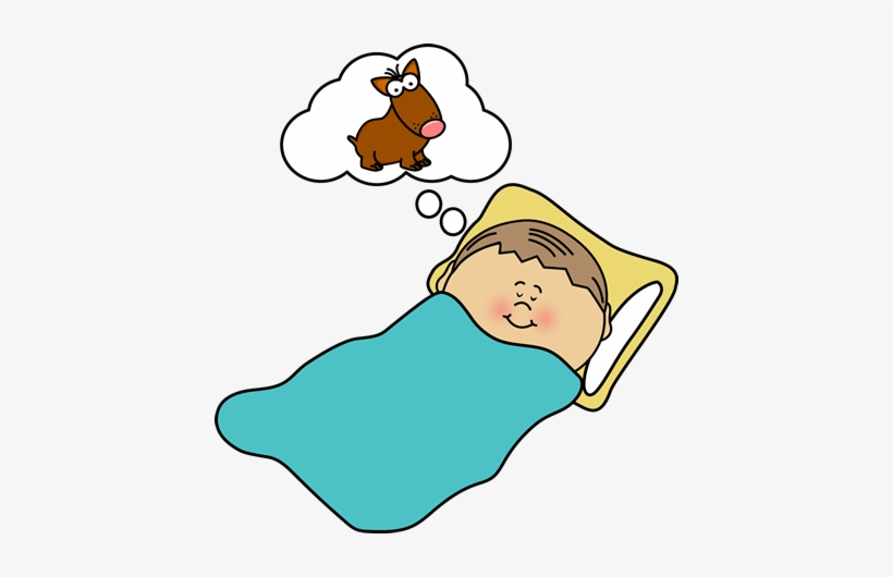Clip Art Images Child Sleeping Boy Dreaming.