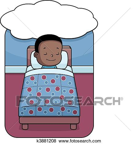 Clip Art Of Boy Dreaming K3881208.