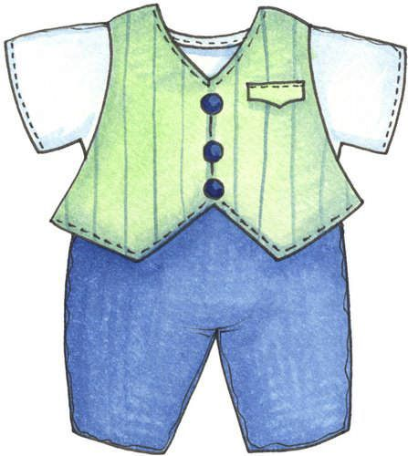 Dress the boy clipart.