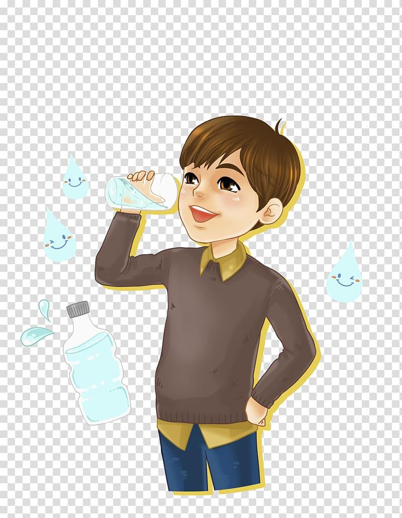 Boy drinking water , Boy drink water transparent background.