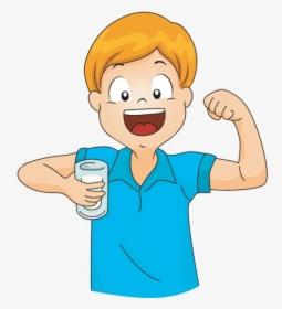 Clip Art Boy Drinking Water Clipart.