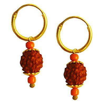 rudraksha stud earrings, rudraksha earrings for sale,shivaji.
