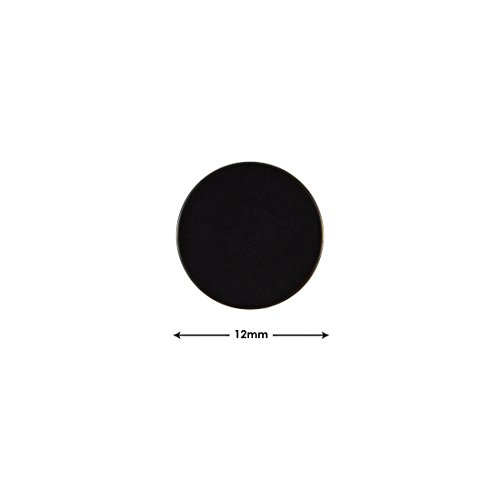 Sarah Plain Round Black Single Stud Earring for Men (H: 12 mm, W: 12 mm).