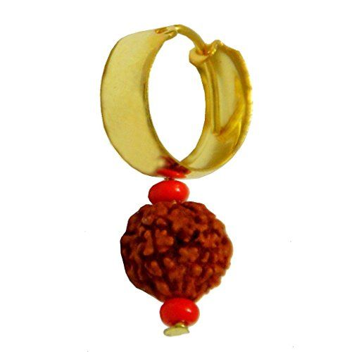 rudraksha stud earrings, rudraksha earrings for sale,shivaji maharaj.