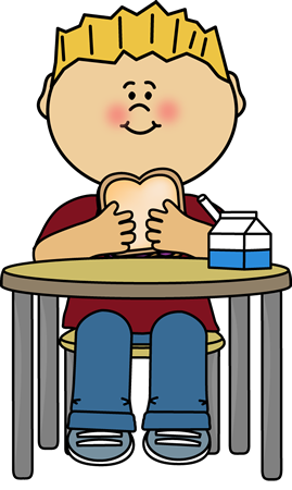 Boy Eaten Sandwich Clipart.
