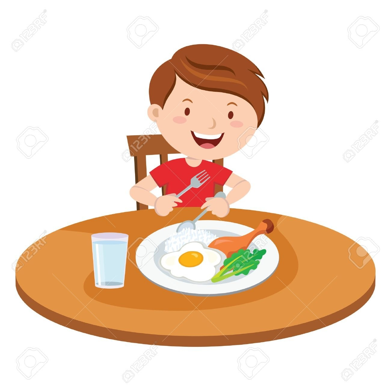 Boy Eating Meal Royalty Free Cliparts, Vectors, And Stock within Boy.