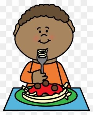 Boy eating dinner clipart 1 » Clipart Portal.