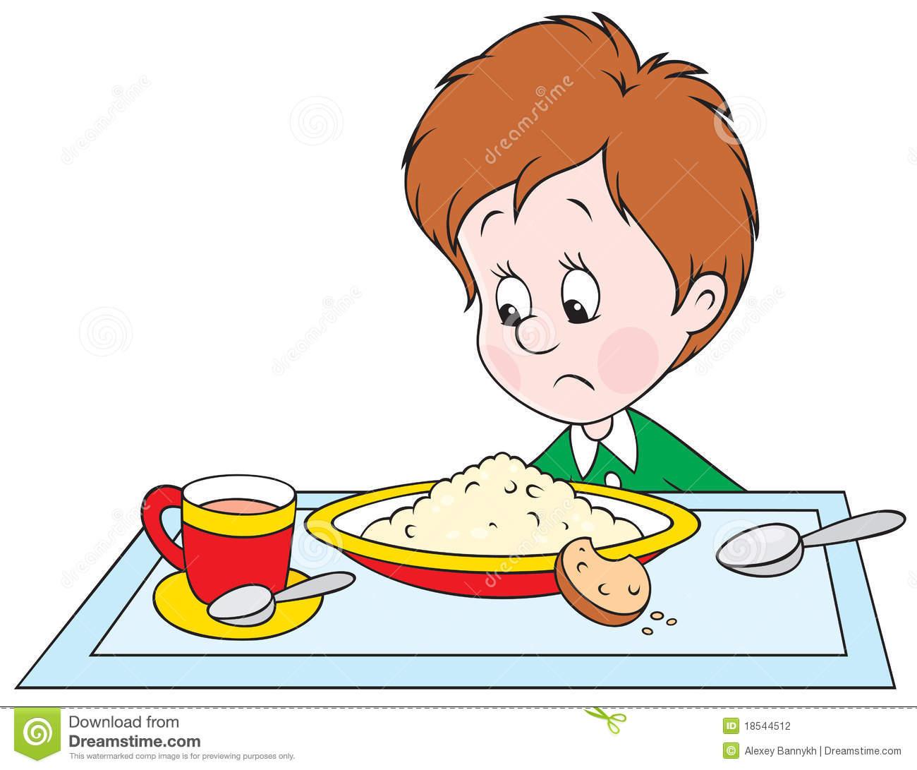 Boy at dinner stock vector. Illustration of eating, infant.