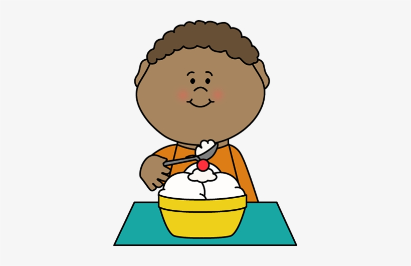 Ice Cream Clip Art Images Boy Eating.