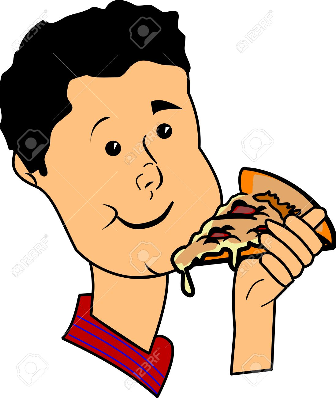 boy eating pizza clipart clipground