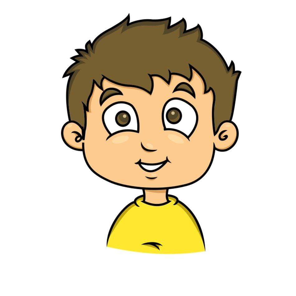 Cartoon Boy Face Clip Art free image.