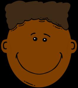Black Boy With Flattop clip art.