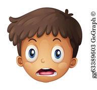 Boy Face Clip Art.