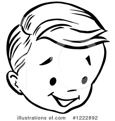Boy Face Clipart Black And White.