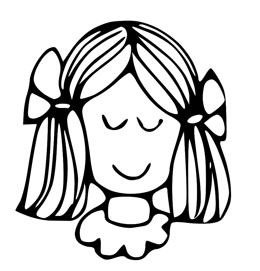 Free Girl Face Clipart Black And White, Download Free Clip Art, Free.
