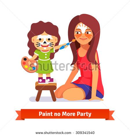 Face Paint Stock Vectors, Images & Vector Art.