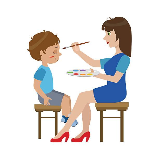 Face Paint Clip Art, Vector Images & Illustrations.