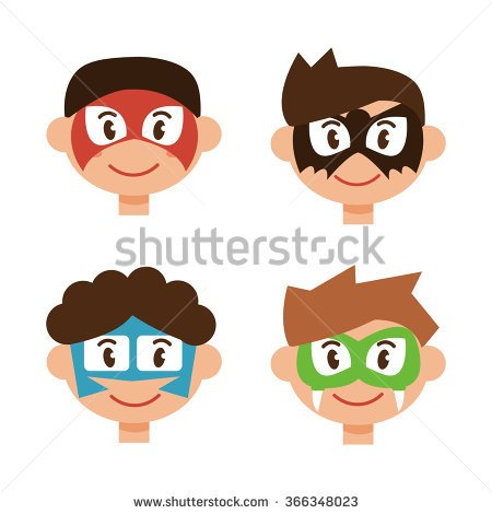 Boy Face Painting Clipart.