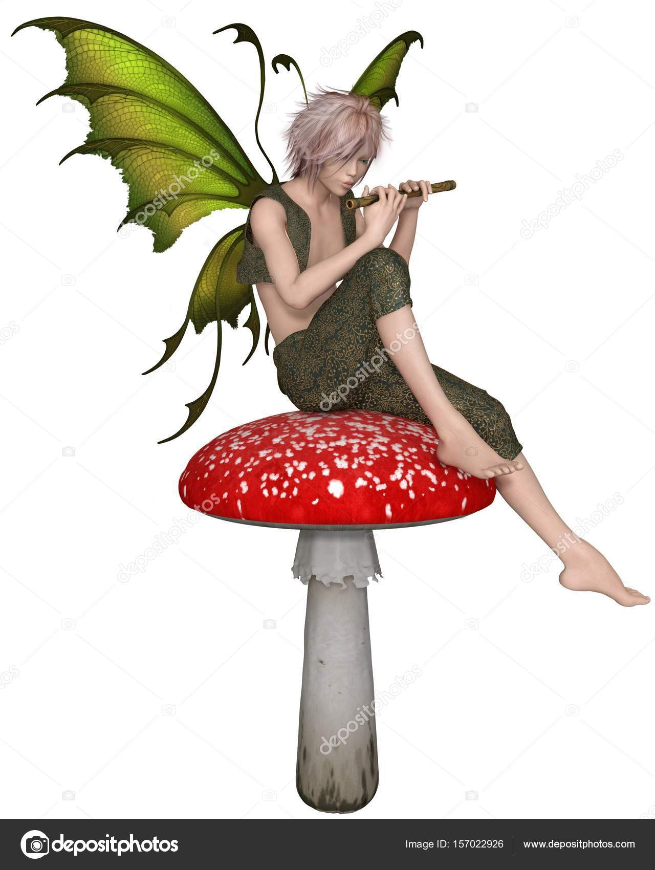 Clipart: fairy toadstool.