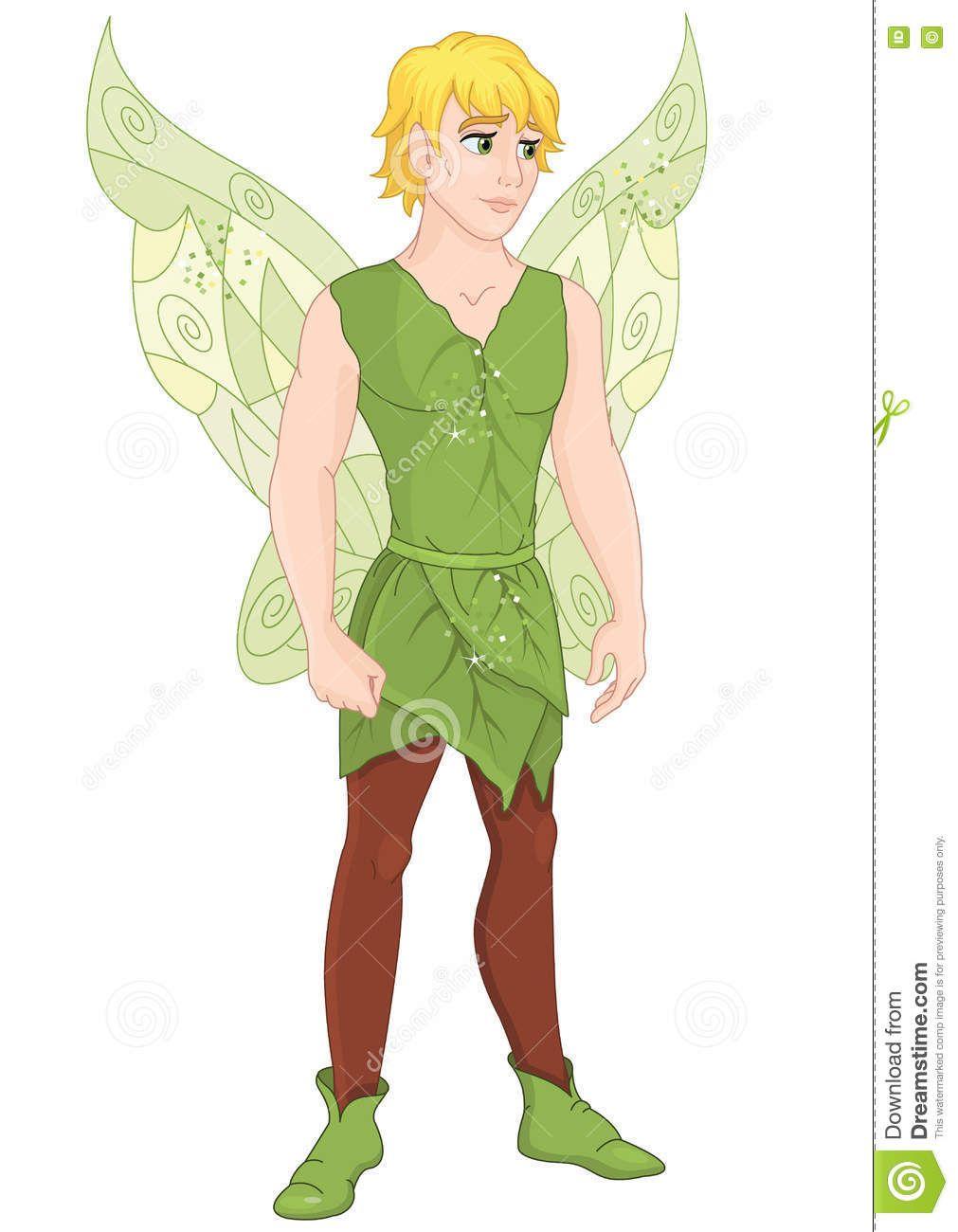 Fairy Boy Stock Vector.