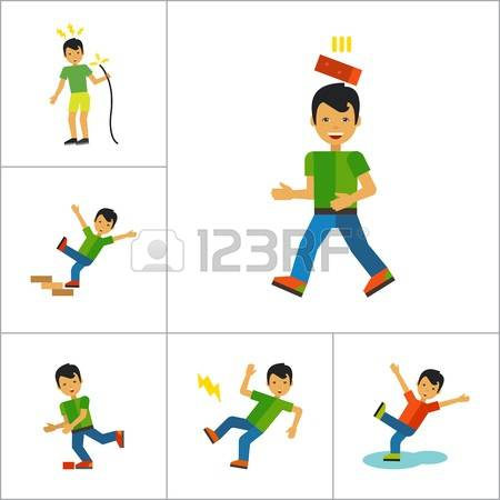 930 Man Falling Down Stock Illustrations, Cliparts And Royalty.