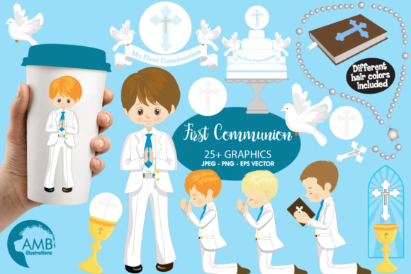 Boys First Communion Clipart.