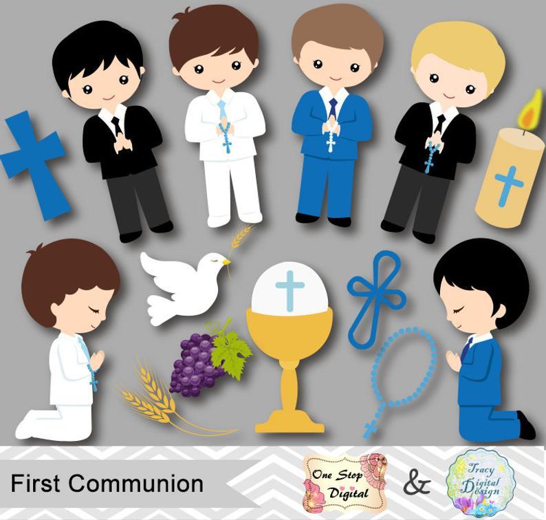 Boys First Communion Digital Clip Art, First Communion Clip Art, First  Communion Boys Digital Clipart, Boy First Communion Clip Art, 0191.