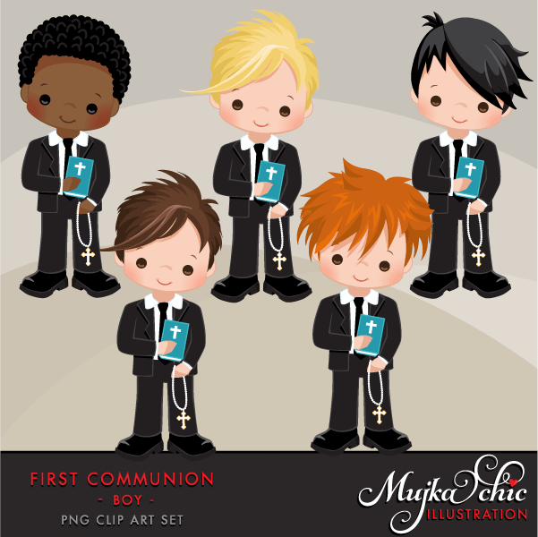 First Communion Clipart for Boys.
